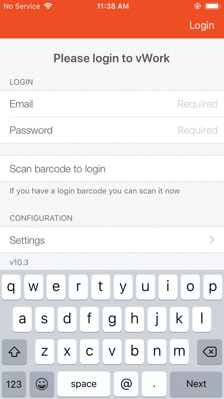 iphone login page