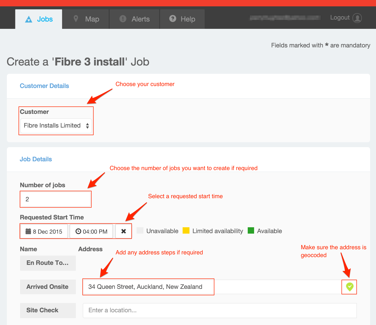 how do i create and track my job in the customer portal    u2013 vwork support