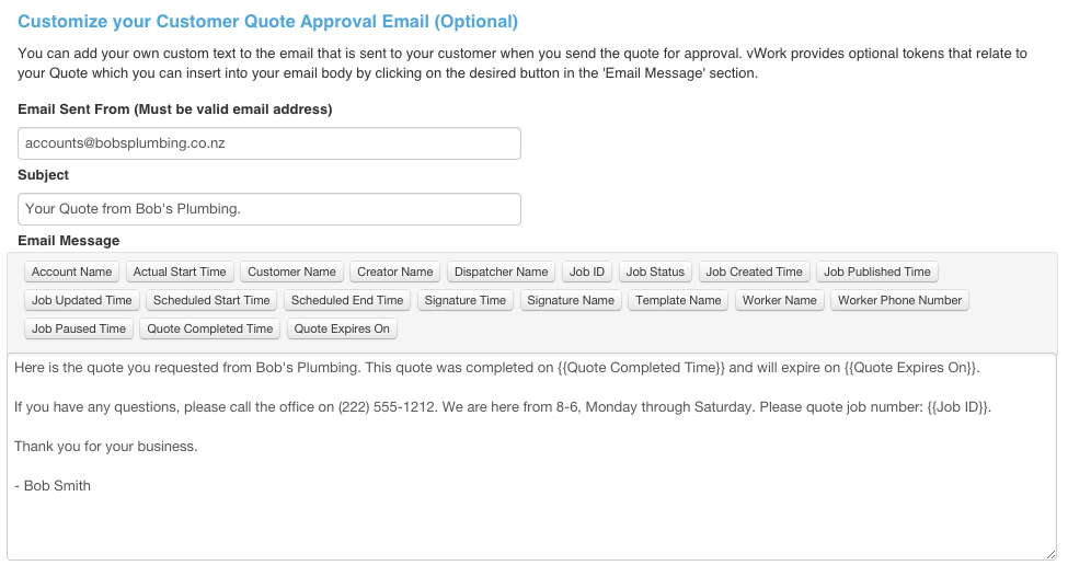 How Do I Enable Quotes VWork Support - How to send quotation email to customer