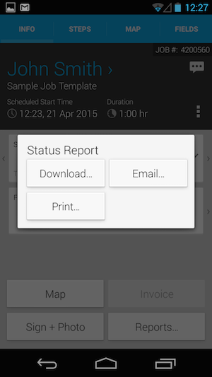 How do I Print a Job Receipt from my Android Phone? – vWork